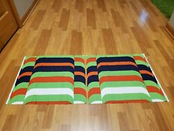 Awesome RARE Vintage Mid Century retro 70s Strata grn blue red 2 pieces fabric $20.00