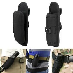 Tactical Flashlight Belt Clip LED Torch 360 Degree Rotating Holster Carry Case $10.74