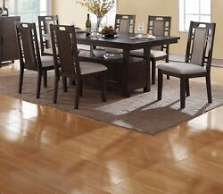 Contemporary Kitchen Dining Room 7pc Set Storage Dining Table Side Cutout Chairs $1049.99