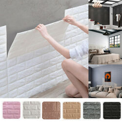 10PCS 3D Wallpaper Wall Panel Peel Stick Adhesive Bedroom Background Home $13.89