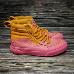 VANS Off The Wall Girls High Tops Orange amp; Pink Ombre Size 12.5 Shoes SK8 Hi $36.95