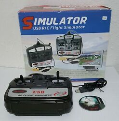 Dynam 6CH USB RC Flight Simulator For Airplanes amp; Helicopters for PC or Laptop $27.00