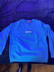 Supreme FW18 Bright Royal Box Logo Crewneck Size X Large 100% Authentic $474.99