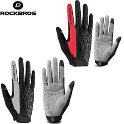 ROCKBROS Sports Cycling Gloves Full Finger Touch Screen Bicycle Gloves 2 Colors $14.80