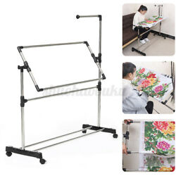 Embroidery Rack Needlework Stand Hoop Adjustable Cross Stitch Frame Sewing Tool $32.53
