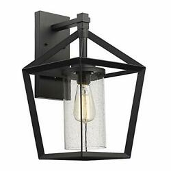 Emliviar Outdoor Wall Light 17 Inch Large Exterior Light Fixture in Black Fin...
