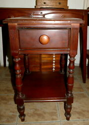 PALM SPRINGS FURNITURE Antique Nightstand Apt Size Small Cherry ? Pick Up ONLY $225.89