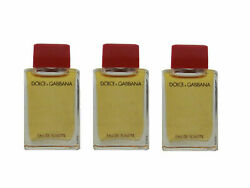 DOLCE amp; GABBANA Red Vintage for women 3 x 4.9 ml EDT Miniature Unboxed $29.95