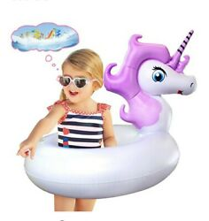 Unicorn Pool Floats Swim Tubes for Kids Inflatable Party Tube Pool Toys for... $15.99