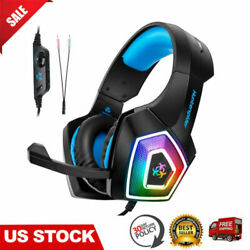 PC Gaming Headset Headphone Over Ear For PS4 Xbox One Computer Laptop Mic LED $19.99