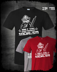 Only You Can Prevent Socialism Shirt 1776 Smokey The Bear Patriotic Meme USA $15.29