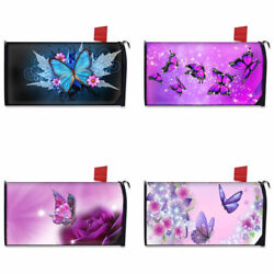 Fashion Butterfly Printed Mailbox Covers Polyester Magnetic Letter Postbox Cover $17.99
