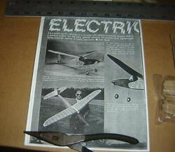 Electric Sparky airplane laser cut short kit 64quot; vintage $50.00
