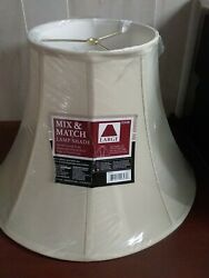 Mix amp; Match Large Lamp Shade Beige Round 8quot; 17quot; x 12.5quot;H NWT $24.95