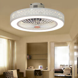 22#x27;#x27; Modern Dimmable LED Ceiling Light Chandelier Lamp With Fan Remote Control $124.00
