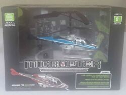 Propel RC Micropter Wireless Micro Helicopter Blue silver $18.99