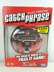 Electronic Catch Phrase by Hasbro Gaming Red Black 5000 Words Brand New Sealed $39.95