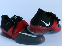 New Sz 12 Mens Nike Romaleos 3 Black Red Crossfit Weightlifting Shoes 852933 600 $79.00