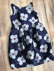 Janie and Jack Girls Dress Sz 8 Special Occasion Holiday Christmas Navy Blue EU $22.99