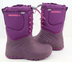 Merrell Snow Quest Purple Girl#x27;s Winter Boots Waterproof Girl#x27;s Size 2 $45.00