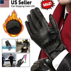 Men Women Winter Gloves Touch Screen Windproof Waterproof Leather Thick Snow USA $6.33
