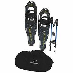 Snowshoe Kit Lightweight Aluminum Snowshoes with Adjustable Poles and Bag $159.99
