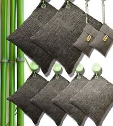 8 Pack Air Purifying Bag Nature Fresh Style Charcoal Bamboo Purifier Mold Odor $22.48