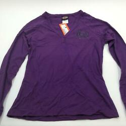 NEW Harley Womens Purple Instill Life Raglan Long Slv Henley Shirt Medium $17.72