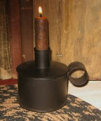 Tinder Box Candle Holder CANDLE *Primitive Home French Country Farmhouse Decor $18.00