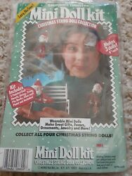 NEW California Country Mini Doll Christmas String Doll Collection Kit Makes 3 $7.95