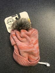 Bond amp; Co Beanie Hat Pink Winter Cold For Dogs Dog Small Medium $9.50