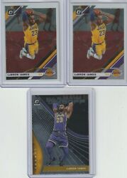 2019 20 Donruss Optic Lebron James Lot Of 3 mint $15.00