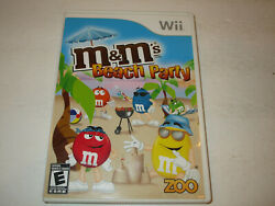 M amp; Ms Beach Party for WII Game With Manual Very Good Condtion Free Shipping $7.95