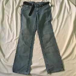 Jeans Womens Size 10 Long Low on Waist Straight Leg Riveted By Lee Low Rise