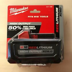 Milwaukee 48 11 1880 M18 High Output 8 Amp Battery New 2 DAY SHIPPING $105.00