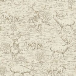 York	LG1447	Rustic Living Wallpaper Collection	Stag Toile Wallpaper $67.98
