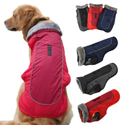 Pet Large Small Dog Clothes Autumn Winter Warm Padded Coat Vest Outdoor Jacket $14.81