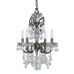 Crystorama Lighting 5194 EB CL SAQ Legacy Four Light Mini Chandelier in $1115.20