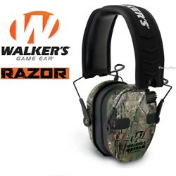 Walkers Game Ear Walker#x27;s Razor Quad Camo Muff Electronic Four Microphones Range $185.09