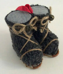 Pottery Barn SNOWSHOE BOOTS Christmas Ornament New with Tags $24.95