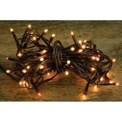 Teeny Tiny Rice Light String Brown Cord 35 Count Ct Wire Primitive Craft Supply $11.79