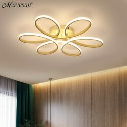 Modern LED Chandelier Lighting for Living Room Dimmable Lamp Remote Control $149.99