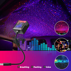 USB Car Interior Roof LED Star Night Light Atmosphere Starry Sky Projector Lamp $13.99