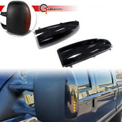 Black Smoke Amber LED Towing Side Mirror Signal Lights for 03 07 Ford F250 F350 $29.99