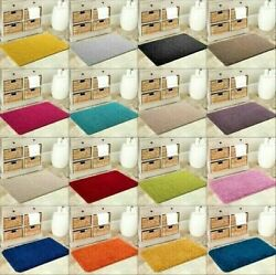 NEW SOFT PLAIN SHAGGY MATS WASHABLE NON SLIP LARGE SMALL BEDROOM RUGS RUNNERS $46.41