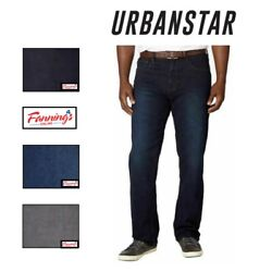 SALE NEW Urban Star Men#x27;s Relaxed Fit Straight Leg Stretch Jeans VARIETY G31 $20.95
