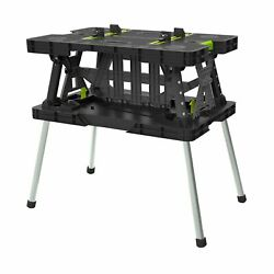 Keter Portable Folding Work Table Workbench Mini Clamps Storage Home Garage NEW $84.99