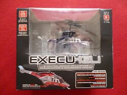 WIRELESS INDOOR HELICOPTER PROPEL RC EXECUHELI BLACK SILVER NEW $34.00