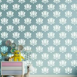 Lotus Flower Wall Decor Stickers Pattern Art Decals 90 Pcs 3x3quot; HE08 $26.50
