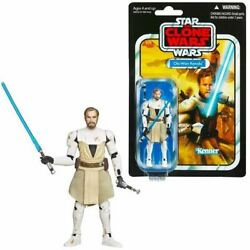 Star Wars Vintage Collection General Obi Wan Kenobi Clone Wars 3.75quot; Figure $19.99